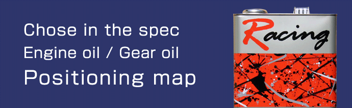 Engine oil / Gear oil Positioning map - Chose in the spec