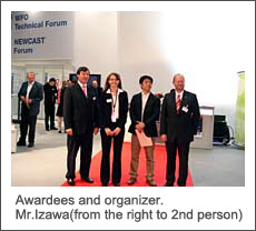 Awardees and organizer. Mr.Izawa(from the right to 2nd person)